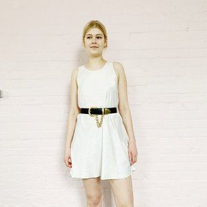Dresses & Skirts - easy white satin slip dress